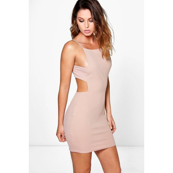 BOOHOO Alina Square Neck Midi Strap Bodycon Dress - Dresses are the most-wanted wardrobe item for day-to-night...