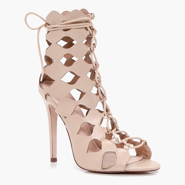 BOOHOO Alisha Cage Ghillie Lace Up Heels - We'll make sure your shoes keep you one stylish step ahead...