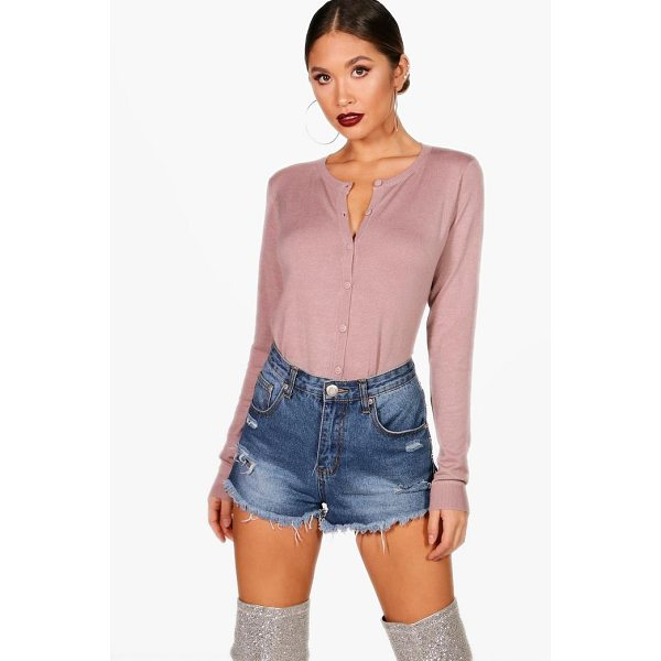 BOOHOO Alisha Knitted Crop Cardigan - Nail new season knitwear in the jumpers and cardigans that...