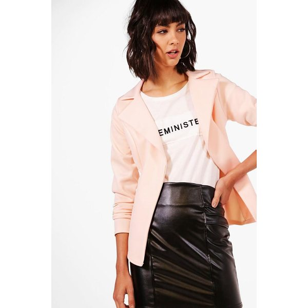BOOHOO Alisha Scuba Lapel Blazer - Wrap up in the latest coats and jackets and get out-there...