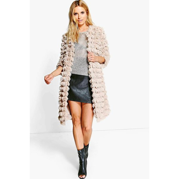 BOOHOO Alisha Shaggy Faux Fur Coat - Wrap up in the latest coats and jackets and get out-there...