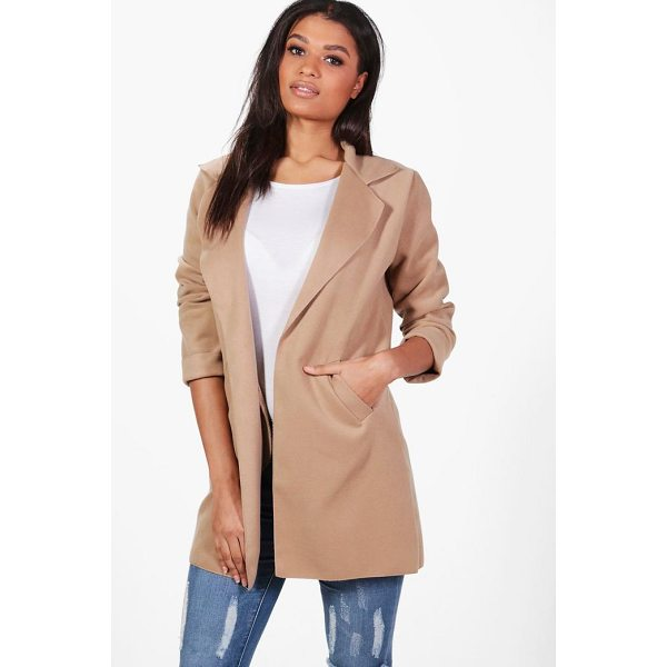BOOHOO Alison Collared Coat - Wrap up warm in the latest wool look outerwear. A stylish...