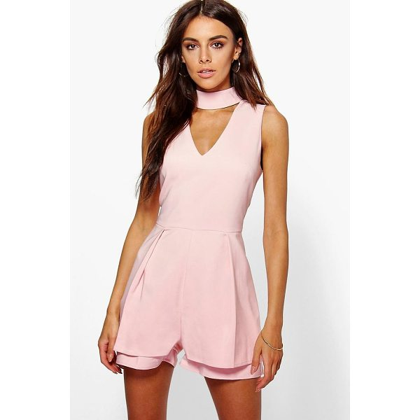 BOOHOO Alison Double Layer Choker Playsuit - Perfect for day or play, a playsuit will solve your style...