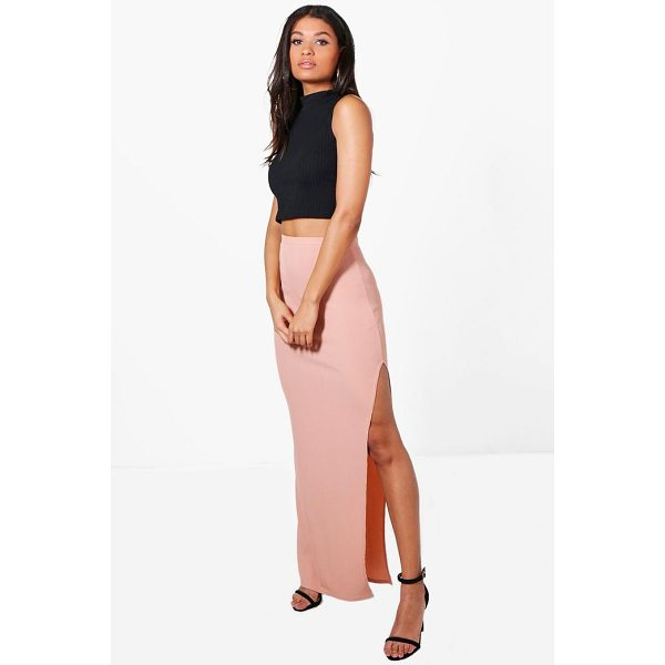 BOOHOO Allegra Thigh Split Ribbed Maxi Skirt - Skirts are the statement separate in every wardrobe This...