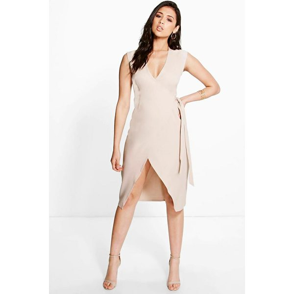 BOOHOO Allie Wrap Front Dress - Dresses are the most-wanted wardrobe item for day-to-night...