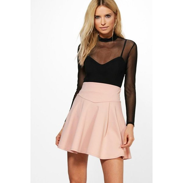 BOOHOO Amala Highwaist Fit & Flare Mini Skirt - Skirts are the statement separate in every wardrobe This...