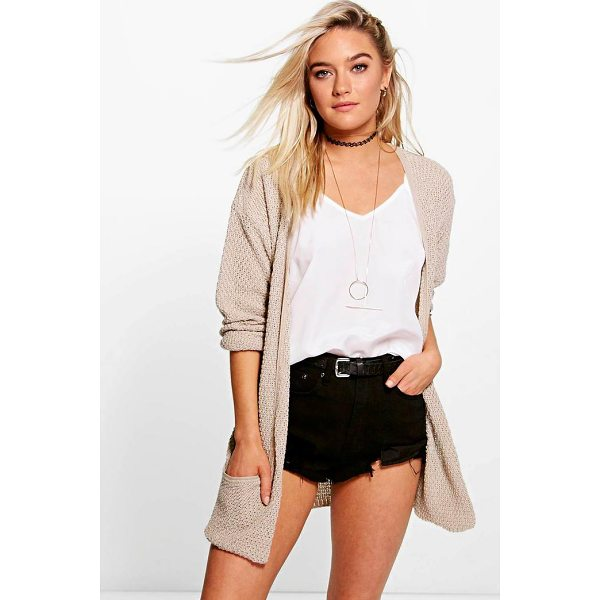 BOOHOO Amber Loose Knit Slouchy Pocket Cardigan - For ultimate cosy vibes, you can't go wrong with a...