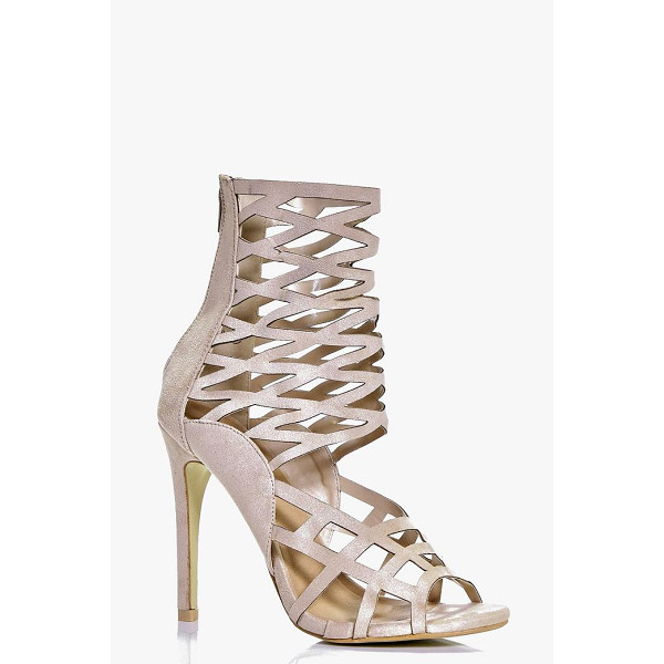 BOOHOO Amber Peeptoe Caged Heels - When it comes to heels, go high or go home!Send your...