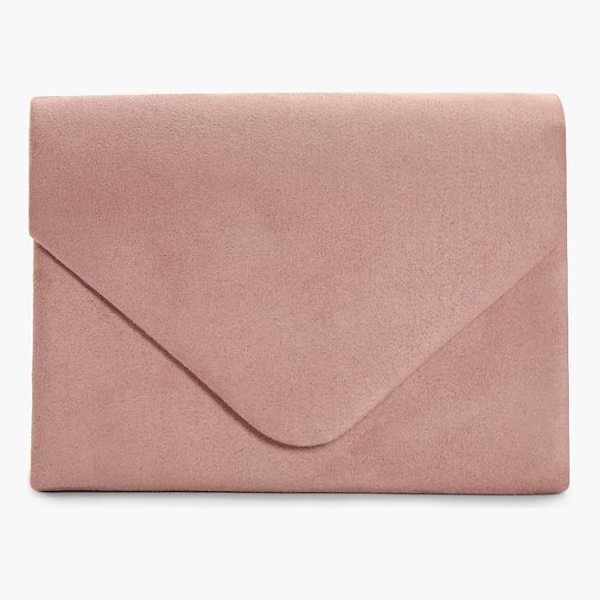 BOOHOO Amelia Suede Envelope Clutch - Add attitude with accessories for those fashion-forward...