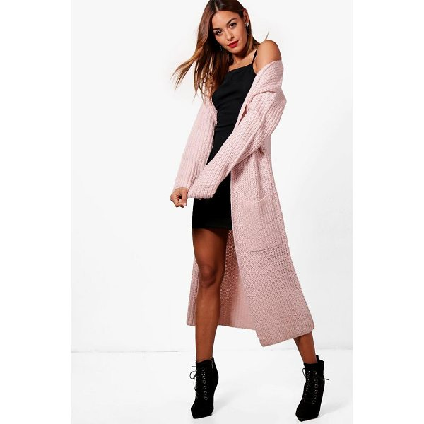 BOOHOO Amy Longline Pocket Front Cardigan - Nail new season knitwear in the jumpers and cardigans that...