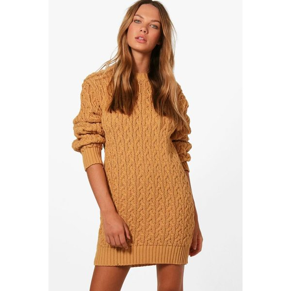 BOOHOO Anna Full Cable Knit Jumper Dress - Going out' We've got all the must have mini dresses: think...