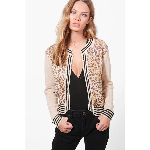 BOOHOO Anna Stripe Rib Cardigan - Nail new season knitwear in the jumpers and cardigans that...