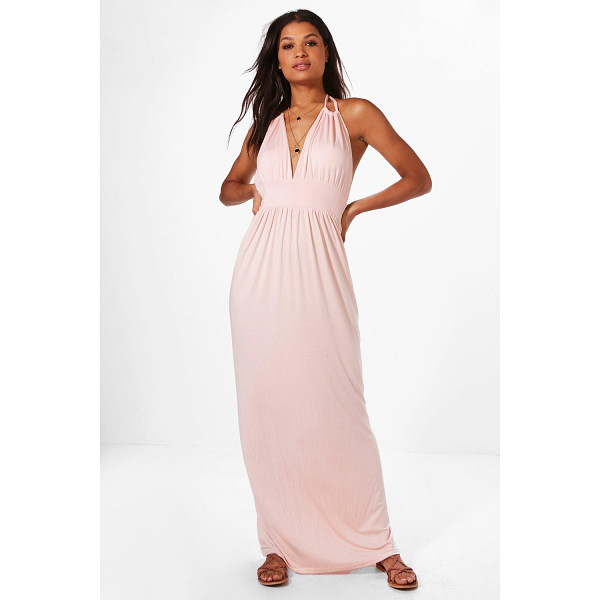 BOOHOO Annabel Halterneck Maxi Dress - Take your style to the max with the always gorgeous maxi...
