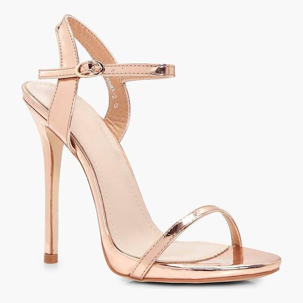 BOOHOO Annie Metallic Two Part - We'll make sure your shoes keep you one stylish step ahead...