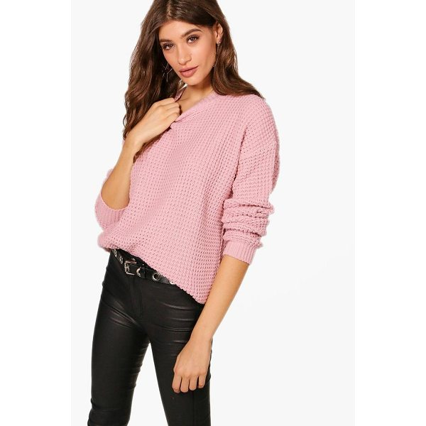 BOOHOO Annie Oversized Vintage Jumper - Nail new season knitwear in the jumpers and cardigans that...