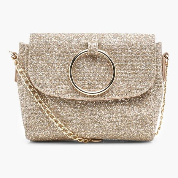 BOOHOO Antoinette O Ring Metallic Cross Body Bag - Add attitude with accessories for those fashion-forward...