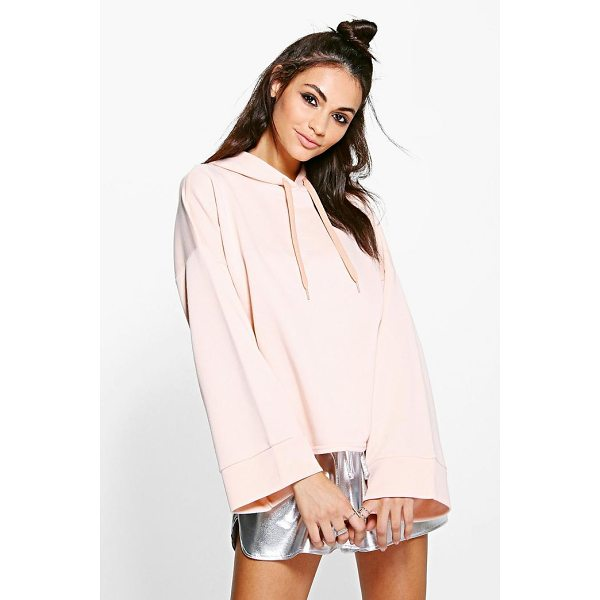 BOOHOO April Wide Sleeve Oversized Hoody - Steal the style top spot in a statement separate from the...