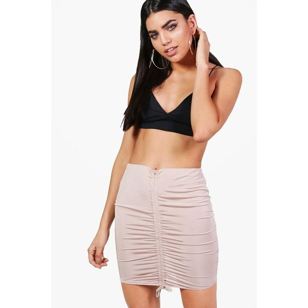 BOOHOO Ariah Drawcord Slinky Midi Skirt - Skirts are the statement separate in every wardrobe This...