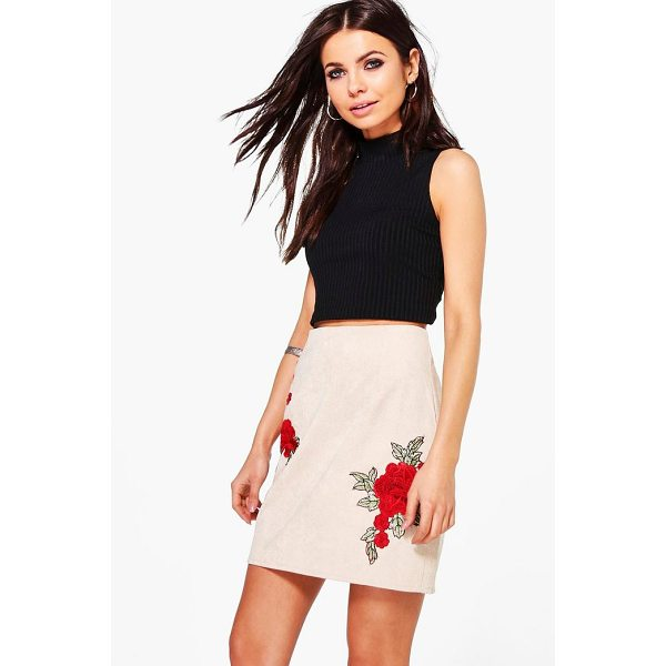 BOOHOO Arizona Rose Applique Cord A Line Skirt - Skirts are the statement separate in every wardrobe This...