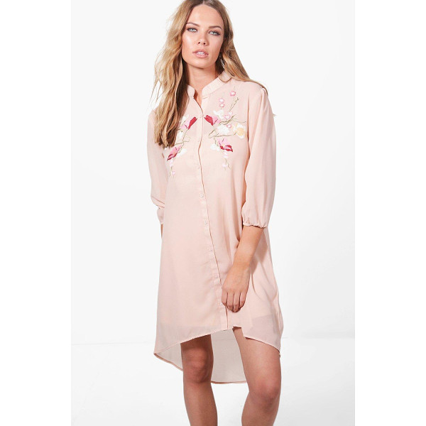 BOOHOO Ashley Boutique Floral Embroidered Dress - Dresses are the most-wanted wardrobe item for day-to-night...