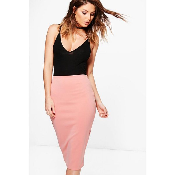 BOOHOO Astaria Scuba Basic Midi Skirt - Midi skirts are this season's hottest must-have staple...