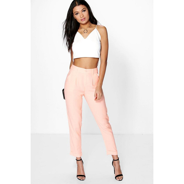 BOOHOO Audrey Chino Style Woven Trousers - Trousers are a more sophisticated alternative to...