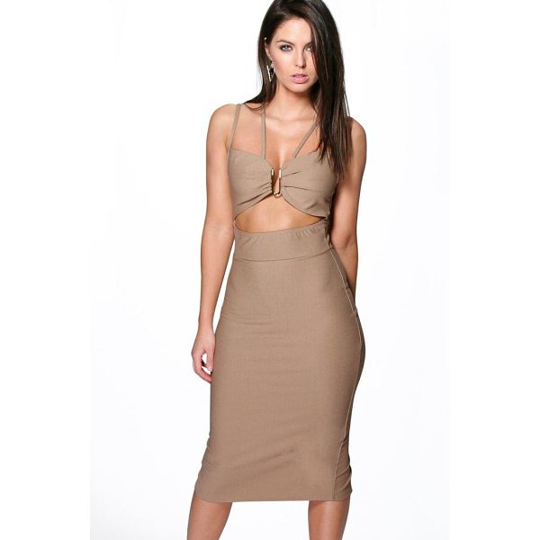 BOOHOO Audrey Strappy Trim Detail Midi Dress - Dresses are the most-wanted wardrobe item for day-to-night...