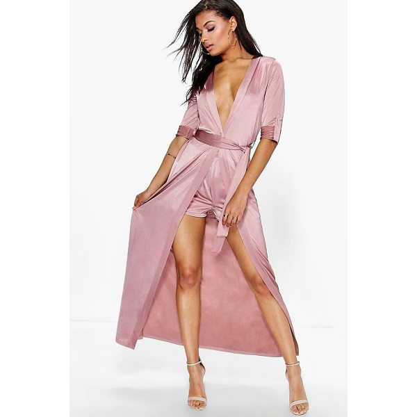 BOOHOO Audrina Tie Waist Duster & Shorts Co-Ord Set - Co-ordinates are the quick way to quirky this seasonMake...