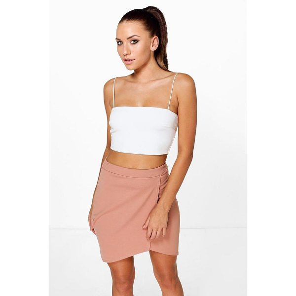 BOOHOO Aura Asymetric Wrap Front Mini Skirt - Skirts are the statement separate in every wardrobe This...