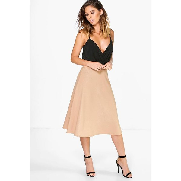 BOOHOO Aura Metallic Crepe Full Midi Skirt - Skirts are the statement separate in every wardrobe This...