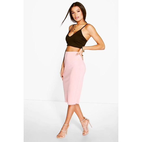 BOOHOO Aurelia Ponte Basic Midi Skirt - Swap your skinnies for a skirt and do something different...