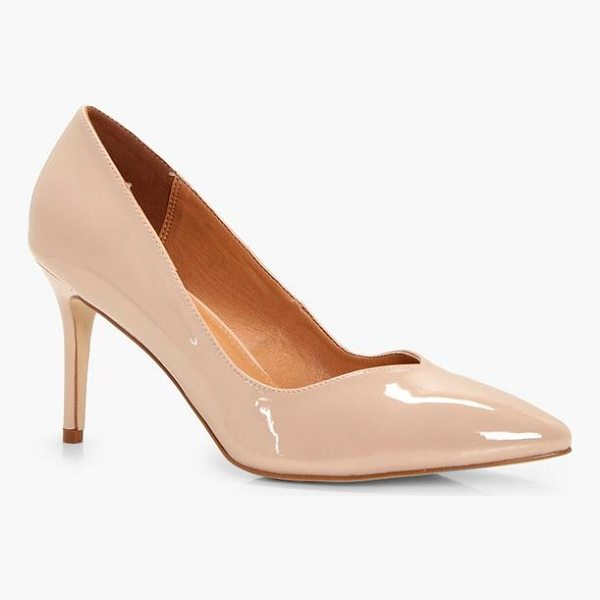 BOOHOO Ava Pointed Toe V Cut Low Heels - We'll make sure your shoes keep you one stylish step ahead...
