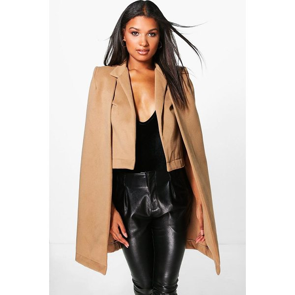 BOOHOO Ava Wool Look Cape Coat - Wrap up in the latest coats and jackets and get out-there...