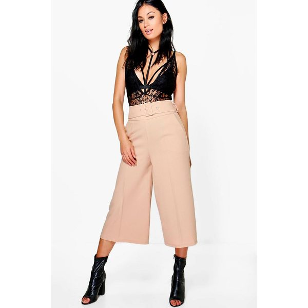 BOOHOO Ayah Deep Waistband Wide Leg Woven Culottes - Trousers are a more sophisticated alternative to...