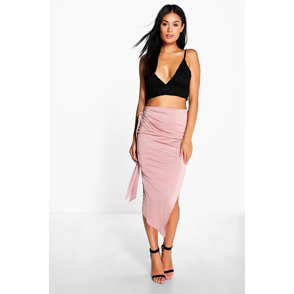 BOOHOO Baha Tie Side Asymetric Midi Skirt - Swap your skinnies for a skirt and do something different...