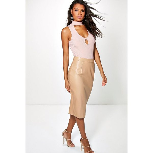 BOOHOO Bahati Leather Look Pencil Midi Skirt - Skirts are the statement separate in every wardrobe This...