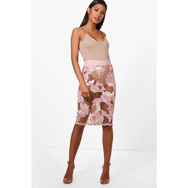 BOOHOO Bea Boutique Mesh Embroidered Midi Skirt - Skirts are the statement separate in every wardrobe This...