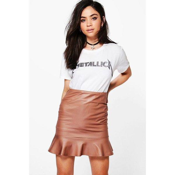 BOOHOO Beau Leather Look Peplum Mini Skirt - Skirts are the statement separate in every wardrobe This...