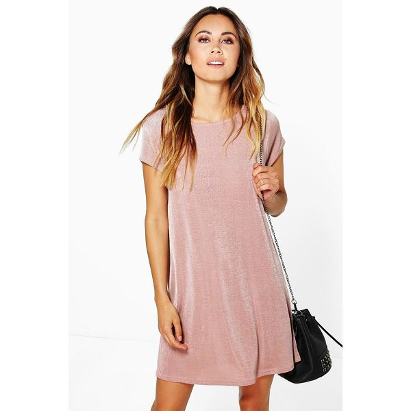 BOOHOO Becky Premium Slinky Shift Dress - Dresses are the most-wanted wardrobe item for day-to-night...