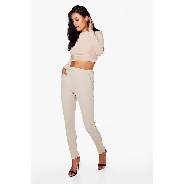 BOOHOO Becky Roll Neck Top And Skinny Trouser Co-ord - Co-ordinates are the quick way to quirky this seasonMake...