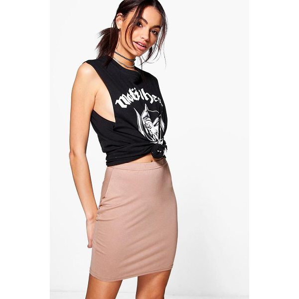 BOOHOO Bella Basic Jersey Mini Skirt - Skirts are the statement separate in every wardrobe This...