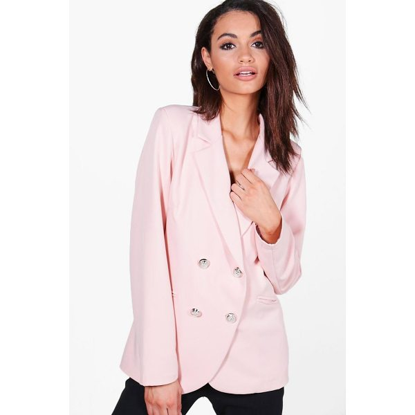 BOOHOO Bella Button Jacket - Wrap up in the latest coats and jackets and get out-there...