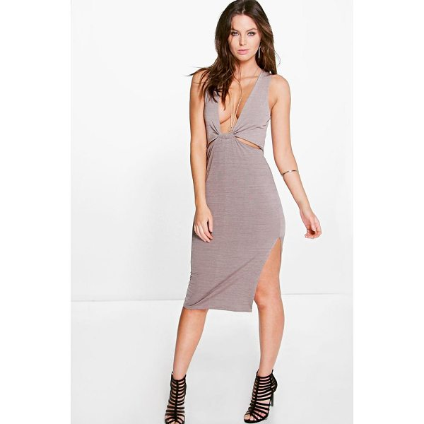 BOOHOO Bella Cut Out Detail Side Split Midi Dress - Dresses are the most-wanted wardrobe item for day-to-night...