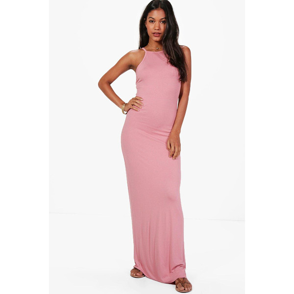 BOOHOO Bella 90s Neck Bodycon Maxi Dress - Dresses are the most-wanted wardrobe item for day-to-night...