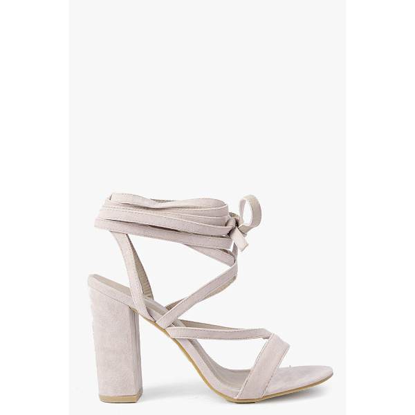 BOOHOO Bella Wrap Strap Two Part Block Heel - When it comes to heels, go high or go home!Send your style...