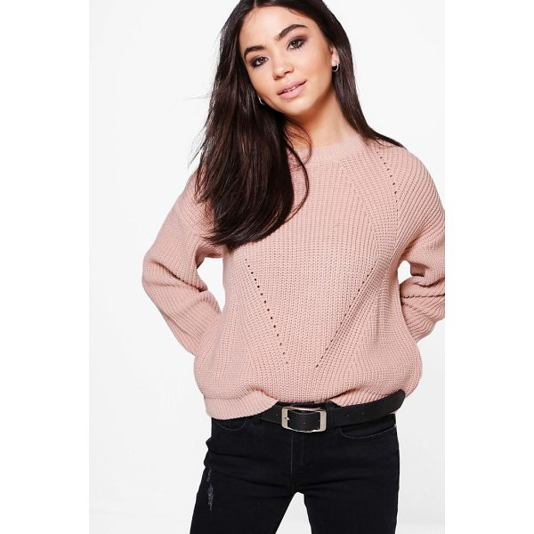 BOOHOO Bethany Mix Stitch Jumper - Nail new season knitwear in the jumpers and cardigans that...