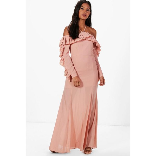 BOOHOO Boutique Alex Pleated Frill Maxi Dress - Dresses are the most-wanted wardrobe item for day-to-night...