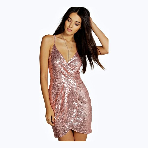 BOOHOO Boutique Amalia Strappy Sequin Skater Dress - Dresses are the most-wanted wardrobe item for day-to-night...
