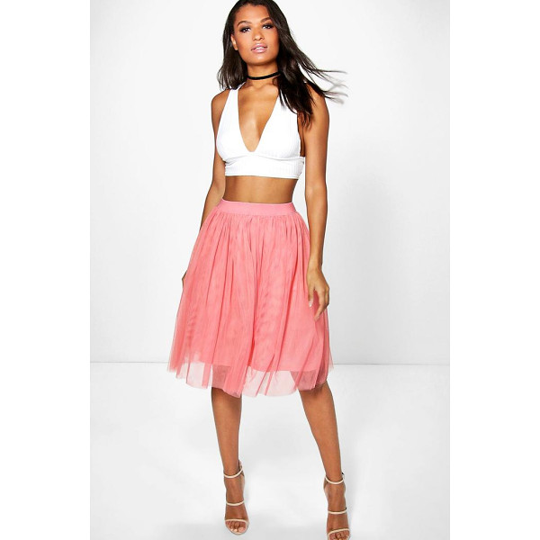 BOOHOO Boutique Amara Knee Length Tulle Skirt - Party with your pins out in a statement evening skirtSteal...