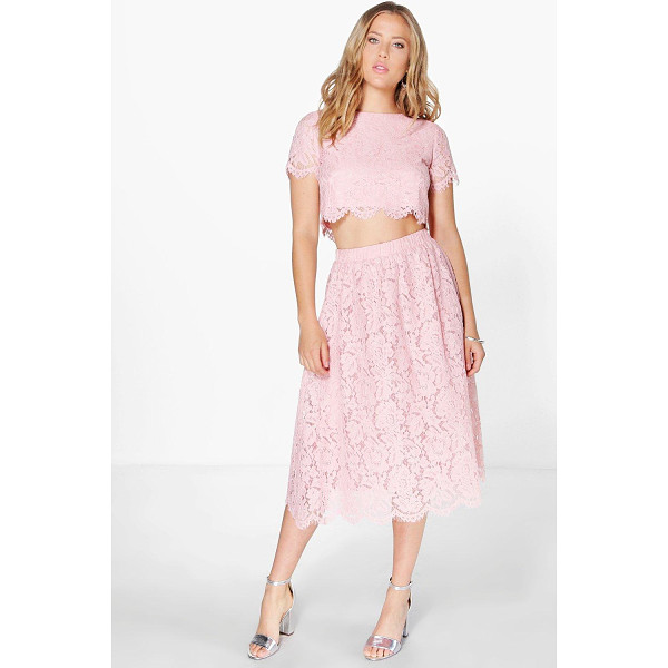 BOOHOO Boutique Aria Lace Midi Skirt Co-Ord Set - Co-ordinates are the quick way to quirky this seasonMake...